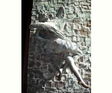 Porte bronzee laterali - Angelo anta destra