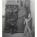 1965 - Giovanni Fallani nelle vesti di pontefice in posa per il Monumento a Papa Giovanni XXIII