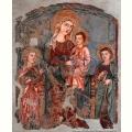 Ambito orvietano - Madonna col Bambino Santa Caterina di Alessandria e San Giovanni Evangelista