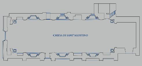Prospetto longitudinale della Chiesa di S. Agostino