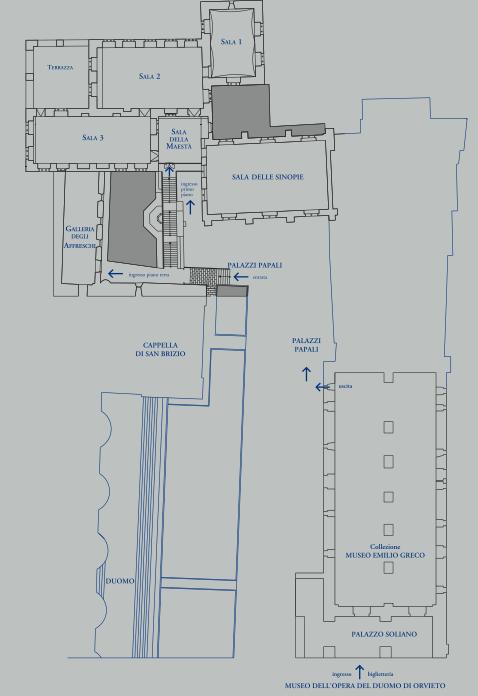 Mappa del percorso interno del Modo